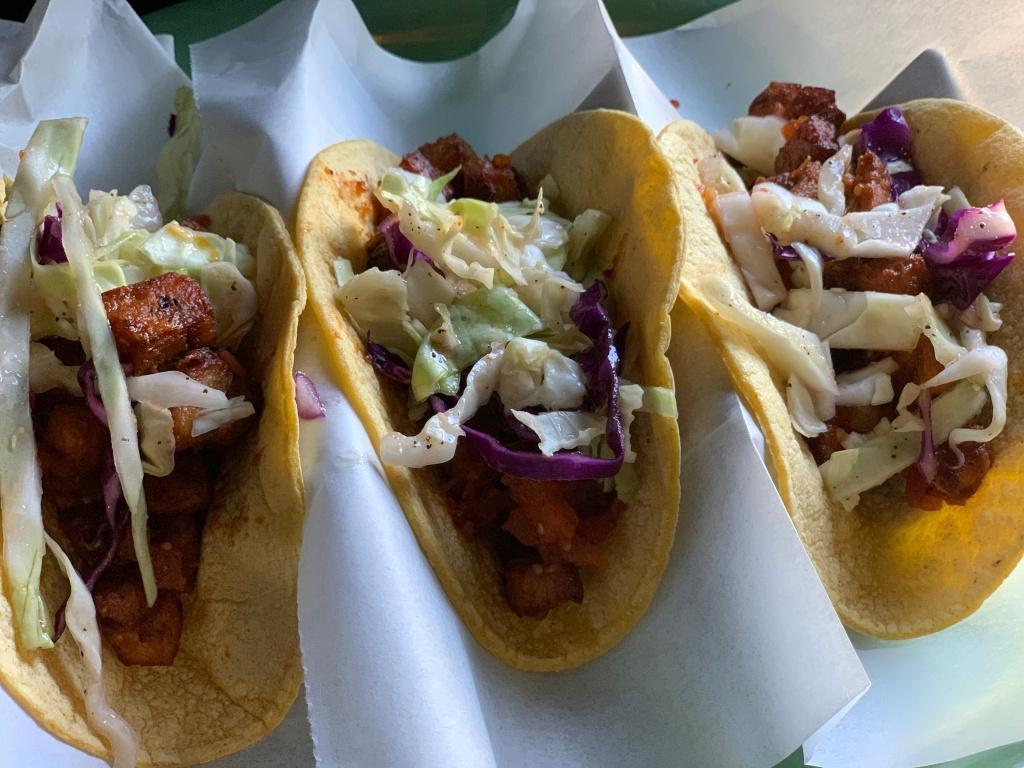 Chicken Chicharon Tacos