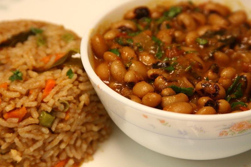 Rice With Black Eyed Peas