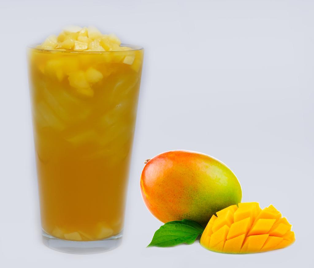 Mango Fresh fruit bite Green Tea