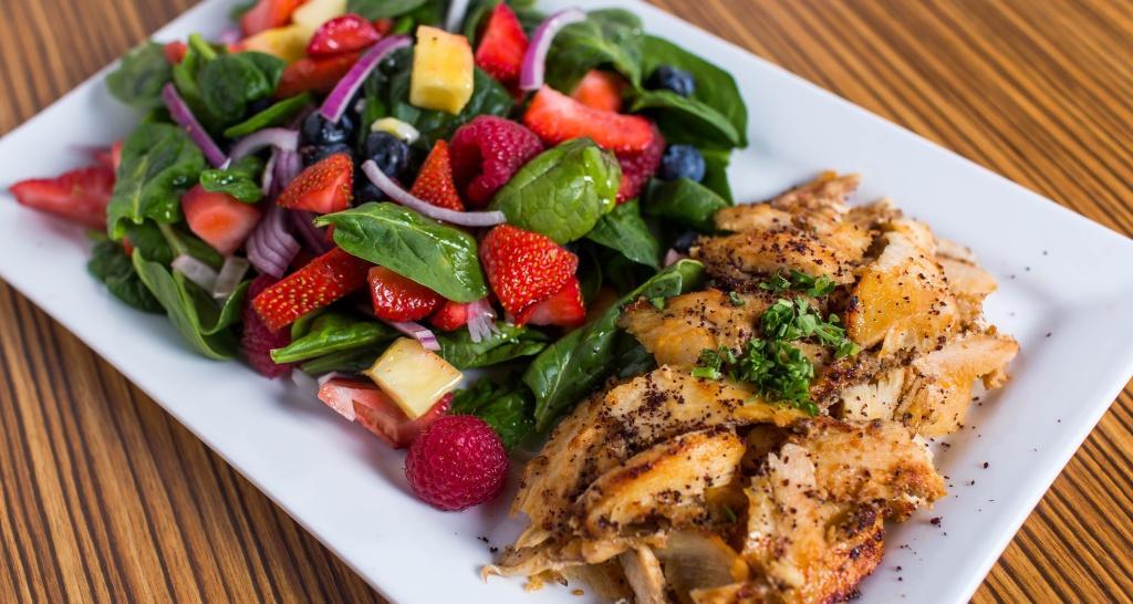 Spinach Salad w/ Shawarma Plate