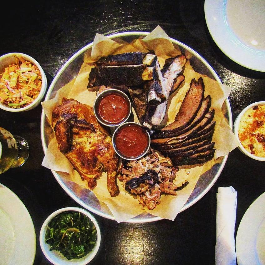 Three Meat BBQ Tray