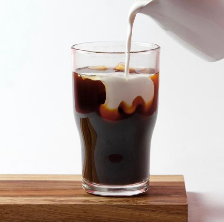Iced Coffee ( Double Shot Of Espresso On Ice Filled With Alkaline Water) 16 Oz