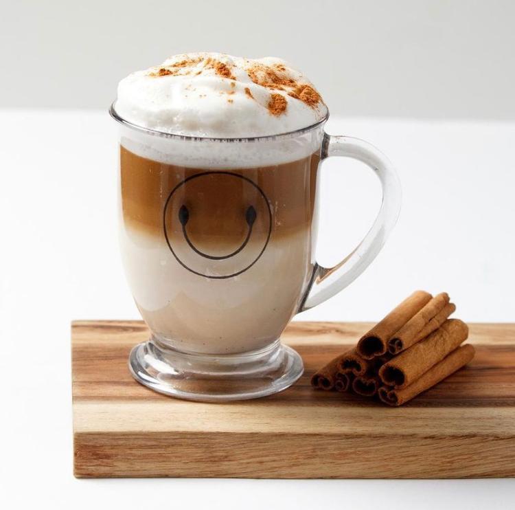 Cappuccino ( Creamy Lactose Free  House Mix Of Coconut Creamer And Almond Milk) 40% Mlk 30 % Coffe & Foam