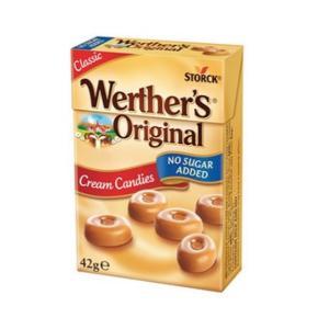 Werther's Original Cream Candies No Sugar Added 42g