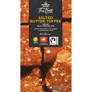Morrisons Swiss Salted Butter Toffee Swiss Milk Chocolate