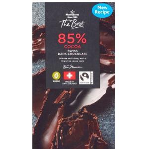 Morrisons 85% Cacao Swiss Dark Chocolate