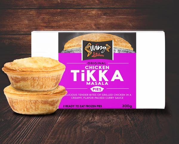 Swingz Kitchen Gourmet Chicken Tikka Pies 300g (Pack of 2)