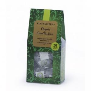 Organic Green Tea with Lemon by Vintage Teas (20 Bags, 40 gms)