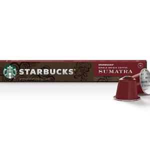 Starbucks Nespresso Coffee Capsules Sumatra x 10