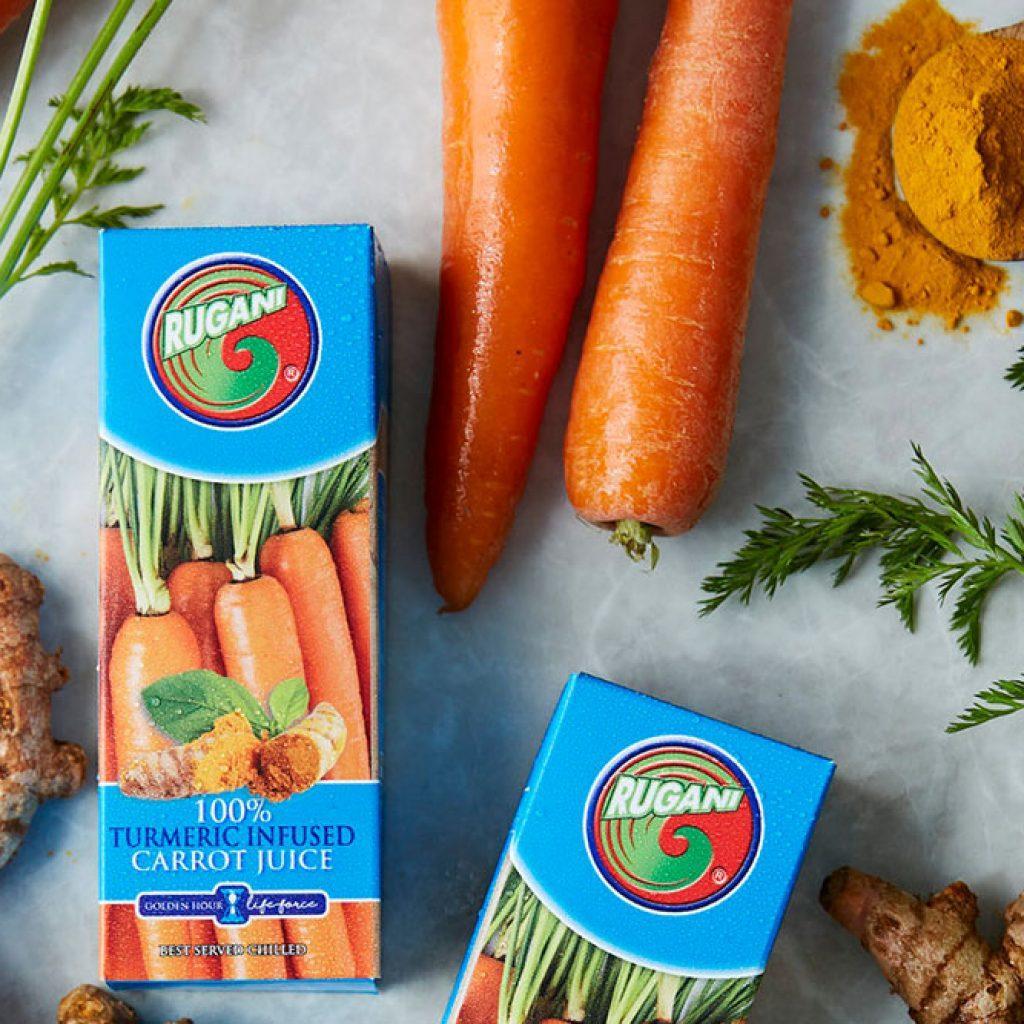 Rugani Tumeric Infused Carrot Juice 330ml Buy one Get One Free