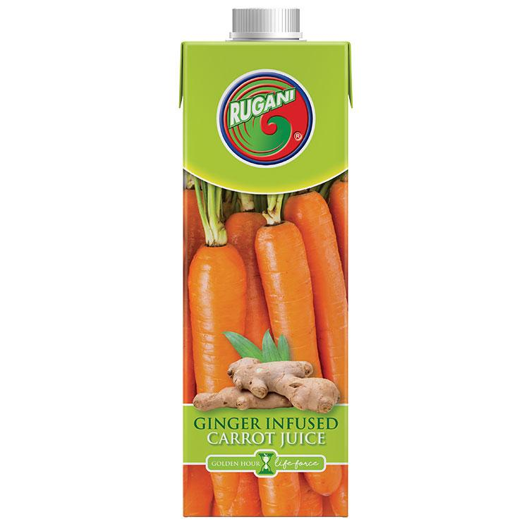 Rugani Ginger Infused Carrot Juice 750ml