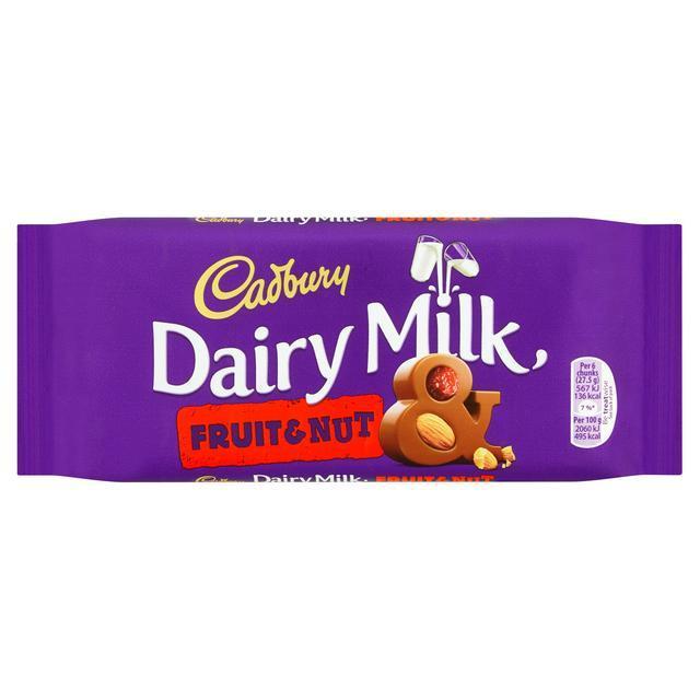Cadbury Dairy Milk Fruit and Nut 165g