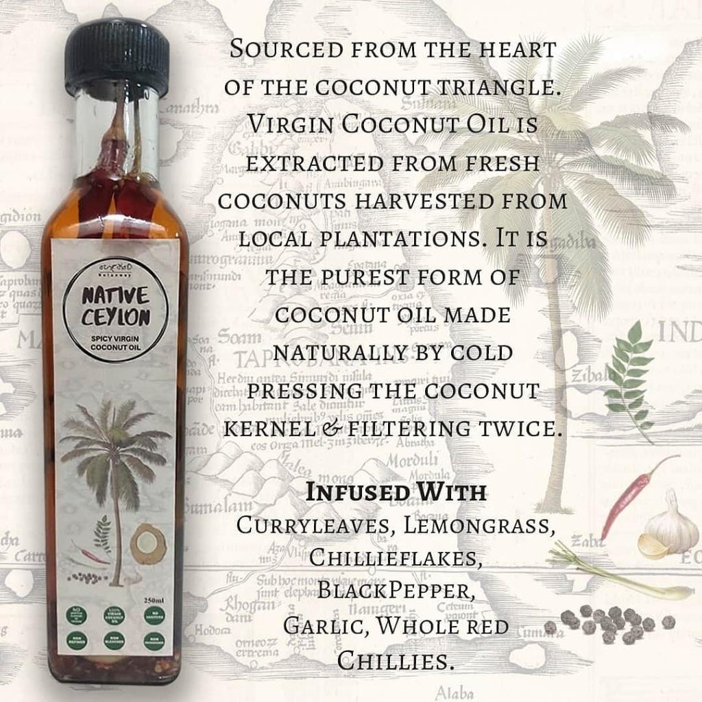 Nativ Ceylon Nai Miris Virgin Coconut oil 250ml