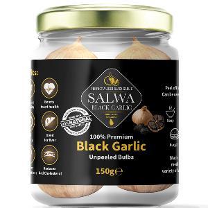 Salwa 100% Premium Black Garlic Unpeeled Bulbs 150g