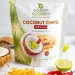 Chilli & Lime Coconut Chips by Gourmet Goodness