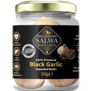 Salwa 100% Premium Black Garlic Unpeeled Bulbs 50g