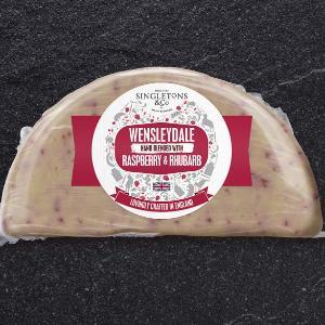 Wensleydale Raspberry and Rhubarb Cheese (200 gms) Singletons & Co