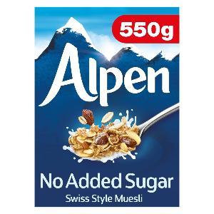 Alpen Muesli No Added Sugar 550g