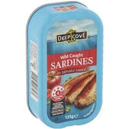 Deep Cove wild caught sardines in Tomato Sauce125g