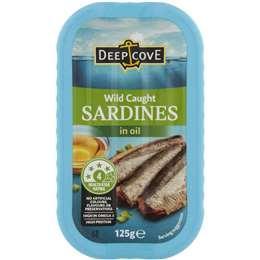 Deep Cove Wild Caught Sardines in Oil 125g