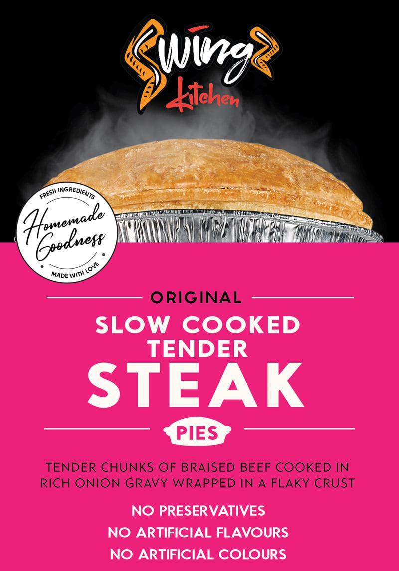 Swingz Kitchen Gourmet Tender Steak Pies 300g (Pack of 2)