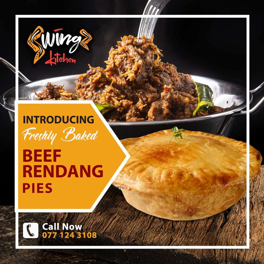Swingz Kitchen Gourmet Spicy Beef Rendang Pies 250g (Pack of 2)