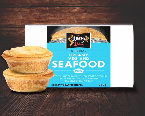 Swingz Kitchen Gourmet Veg and Seafood Pies 300g (Pack of 2)