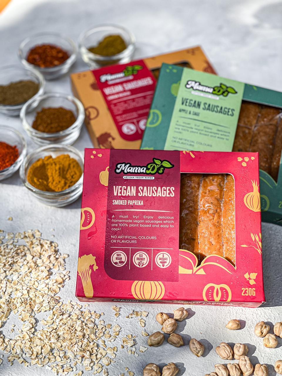 Mama D's Smoked Paprika Vegan Sausages pack of 6