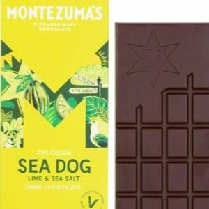 Montezuma's Vegan Chocolate Lime and Salt 90g