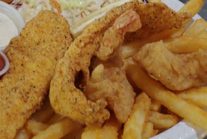 Catfish and Shrimp Combo basket