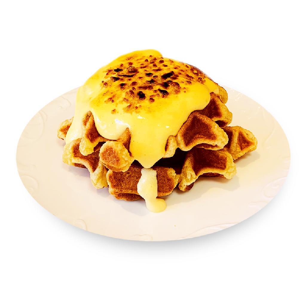 Crème Brulee Mochi Waffle