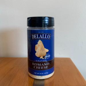 DeLallo Grated Romano 8oz.