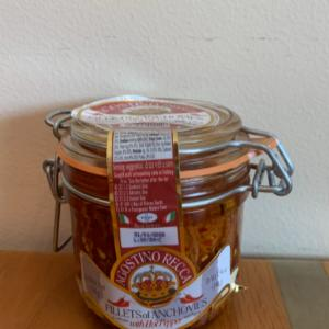 Agostino Recca Fillets Of Anchovies With Hot Pepper 3.18oz.