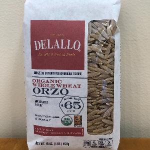 DeLallo Org. WW Orzo #65